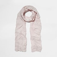 River Island Womens Light Pink Crinkle Scarf