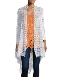 Johnny Was Swirl Crochet Jacket Women's White