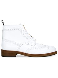 Loveless Brogue Style Boots White
