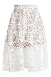 Glamorous Lace Midi Skirt By White