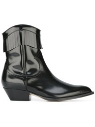 Philosophy Di Lorenzo Serafini Varnished Cowboy Boots Black