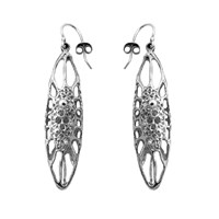 Ayaka Nishi New York Long Cell Earrings Silver