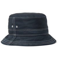 Thom Browne Cotton Twill Bucket Hat Navy