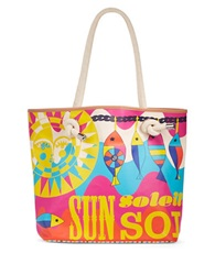 Jonathan Adler Sun Canvas Tote Pink