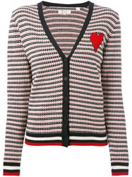 Chinti And Parker Jacquard Heart Cardigan Women Cashmere S Blue