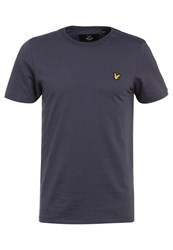 Lyle And Scott Basic Tshirt Washed Grey Blue Grey