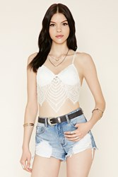 Forever 21 Scalloped Lace Cropped Cami