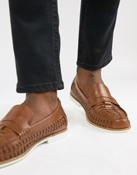 Kg By Kurt Geiger Woven Loafers Tan