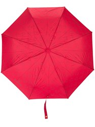 Moschino Logo And Bear Print Umbrella Red