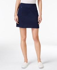 Styleandco. Style Co. Pull On Skort Only At Macy's Industrial Blue