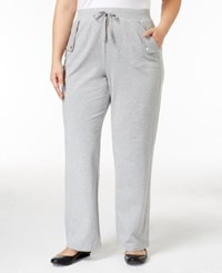 Karen Scott Plus Size Lounge Pants Only At Macy's Smoke Grey