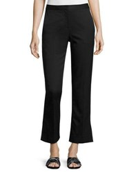Grey By Jason Wu Straight Leg Stretch Wool Ankle Pants Black