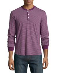 Penguin Long Sleeve Striped Knit Henley Shirt Italian Pl