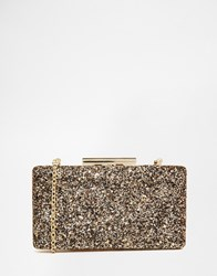 Oasis Glitter Box Clutch Gold