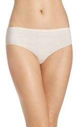 Nordstrom Women's Lingerie Seamless Hipster Panty Pink Wood Stripe