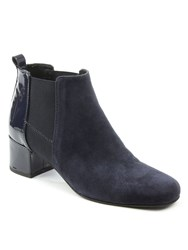 Daniel Mimi Patent Back Ankle Boots Navy