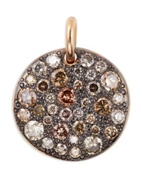 Pomellato Sabbia 18K Rose Gold And Brown Diamond Pendant