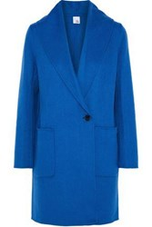 Iris And Ink Reece Wool Cashmere Blend Coat Blue