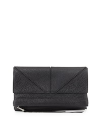 Christopher Kon Tassel Zip Geo Clutch Bag Black