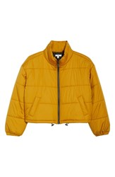 Plus Size Bp. Crop Puffer Jacket Yellow Mineral