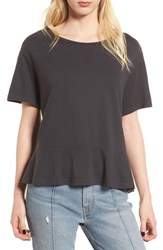 'S Bp. Cotton And Modal Peplum Tee Black