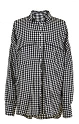 Tibi Gingham Relaxed Utility Blouse