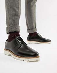 Ben Sherman High Shine Lace Up Chunky Shoes In Black
