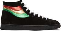 Marc Jacobs Black Stripes High Top Sneakers