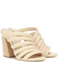 Mercedes Castillo Izzie High Leather Sandals White