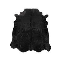 Amara Cow Skin Rug Black Dyed
