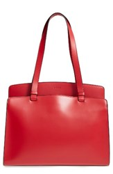 Lodis Audrey Collection Jana Leather Tote Red