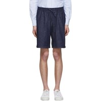 Maison Kitsune Navy Denim Shorts