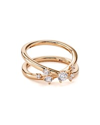 Nadri Double Band Ring Rose Clear