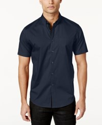 Inc International Concepts Men's Larento Stretch Shirt Only At Macy's Navy