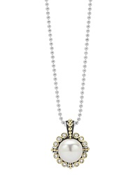 Lagos Cultured Freshwater Pearl And Diamond Pendant Necklace With 18K Gold 16