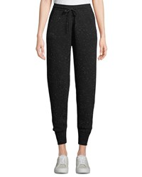Theory Arleena Speckled Cashmere Jogger Pants Black