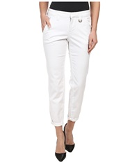 Jag Jeans Dana Tapered Boyfriend Chino Pant In Bay Twill White Women's Casual Pants