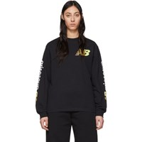 Aries Black New Balance Edition Long Sleeve T Shirt