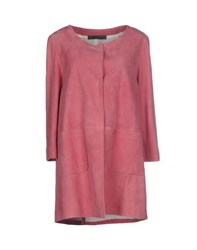 Simonetta Ravizza Coats And Jackets Full Length Jackets Women Pastel Pink