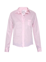 Frank And Eileen Barry Micro Check Cotton Shirt