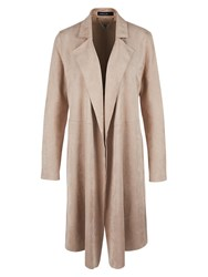 Marc Cain Suedette Coat Rose Taupe