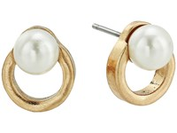 The Sak Pearl Circle Stud Earrings Gold Earring
