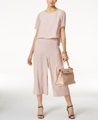 Alfani Petite Popover Culotte Jumpsuit Only At Macy's Gray Morn