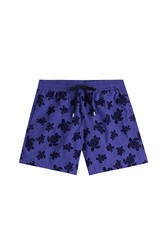 Vilebrequin Printed Swim Trunks Purple