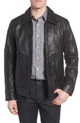 Marc New York Men's By Andrew Herrod Perforated Leather Jacket