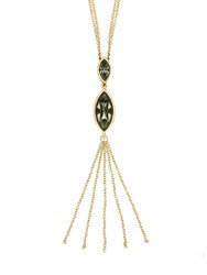 Aurora Gold Plated Crystal Tassle Necklace N A N A
