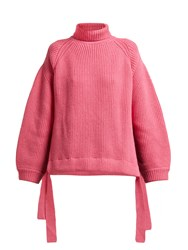 Ellery Wallerian Oversized Wool Blend Roll Neck Sweater Pink