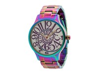 Betsey Johnson Bj00040 11 Analog Rainbow Stainless Steel Case And Bracelet Watch Stainless Steel Rainbow Analog Watches Multi