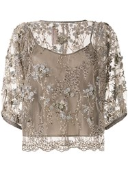 Antonio Marras Embroidered Layered Blouse 60