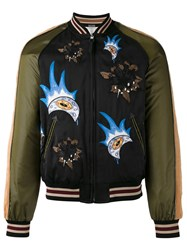 Coach Patches Bomber Jacket Black